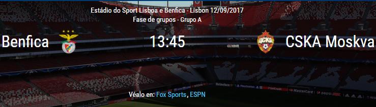 Benfica vs CSKA Moskva