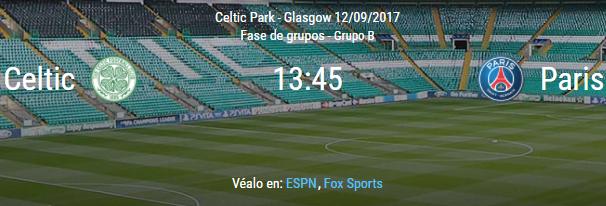 Celtic vs Paris
