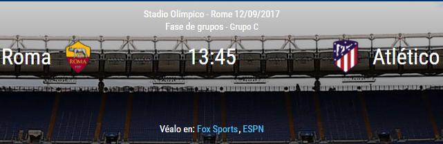 Roma vs Atlético de Madrid