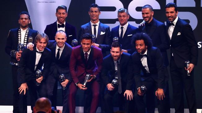 El 11 ideal de la FIFA 2017