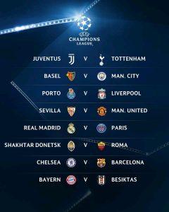 Partidos octavos de final de la Champions League 2017-2018