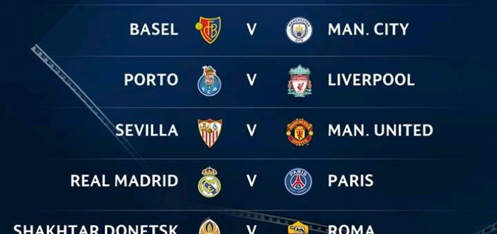 Partidos octavos de final de la Champions League 2017-2018