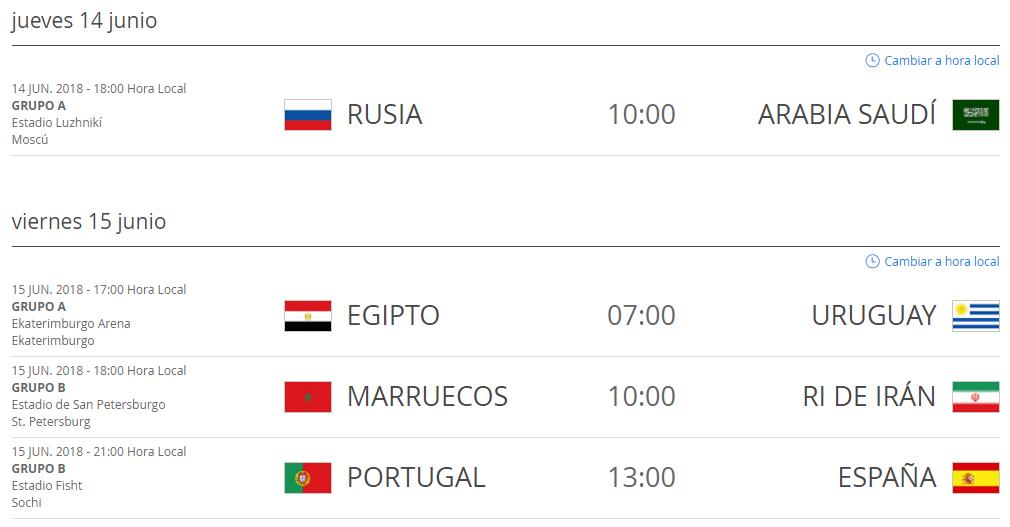 Partidos_Rusia_2018_Hora_Colombia_14_y_15_de_junio