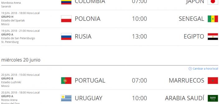 Partidos_Rusia_2018_Hora_Colombia_19_y_20_de_junio