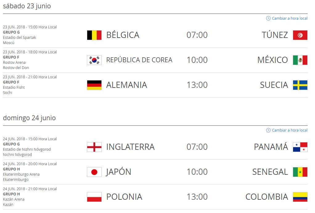 Partidos_Rusia_2018_Hora_Colombia_23_y_24_de_junio