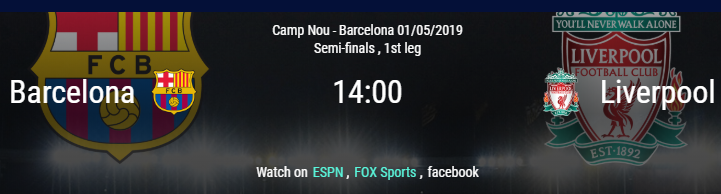 Barcelona vs Liverpool - Semifinal partido de ida