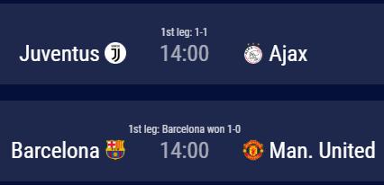 Cuartos de final partidos de vuelta 16-04-2019