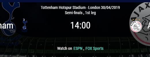 Tottenham vs Ajax - Semifinal partido de ida