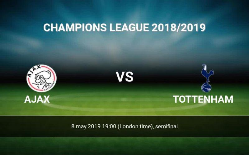 Ajax vs Tottenham - Semifinal UCL 2019