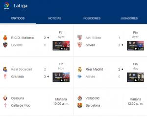 Jornada 36 - La Liga España