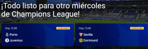 Matchday Miercoles 17 feb Champions
